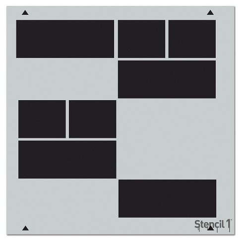 """Stencil1 Structure Repeating - Wall Stencil 11"""" x 11"""" - image 1 of 3"""