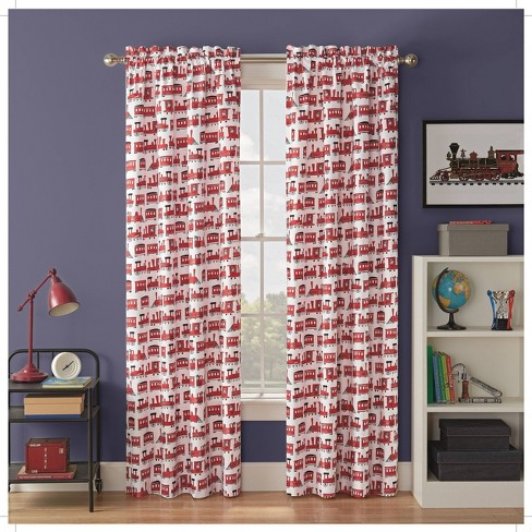 Express Train Blackout Curtain Panels - Waverly Kids - image 1 of 3