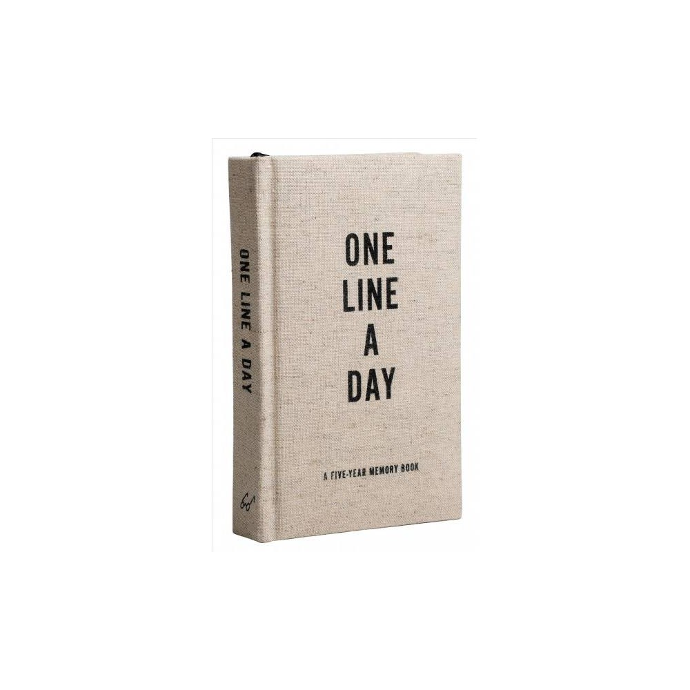 Canvas One Line a Day : A Five-Year Memory Book - (Hardcover)