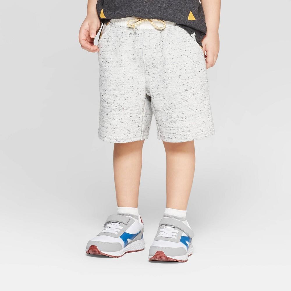 Genuine Kids from OshKosh Toddler Boys' Jogger Shorts - Cream/Gray 12M