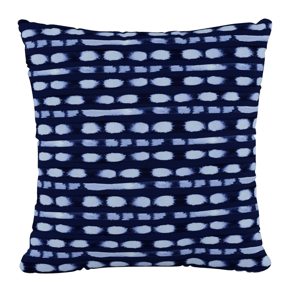 """Image of """"18""""""""x18"""""""" Polyester Pillow in Blot Stripe Cobalt - Cloth & Company"""""""