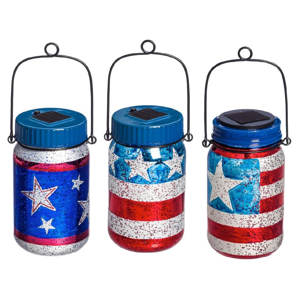 Americana Jar Lantern, Multi-Colored