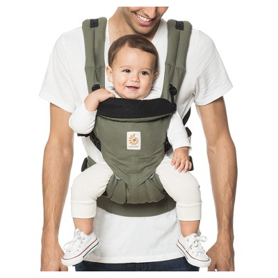 Ergobaby Omni 360 All Carry Positions Ergonomic Baby Carrier - Khaki Green