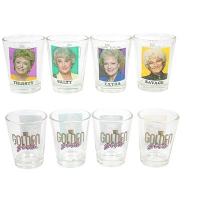 "Silver Buffalo The Golden Girls ""Thirsty Salty Extra Savage"" 1.5-Ounce Mini Glasses 