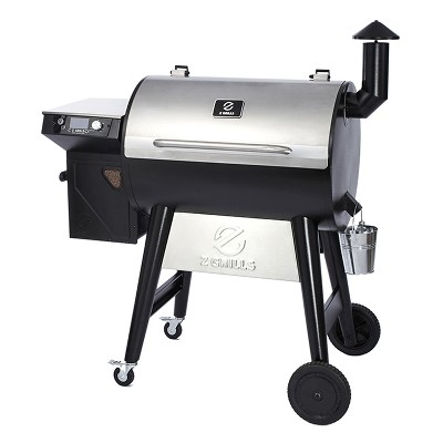 Z GRILLS ZPG-7002F2 8-in-1 Wood Pellet Stainless Steel Grill Smoker for Outdoor BBQ Cooking with Digital Temperature Control and Rain Cover, 694 Sq In