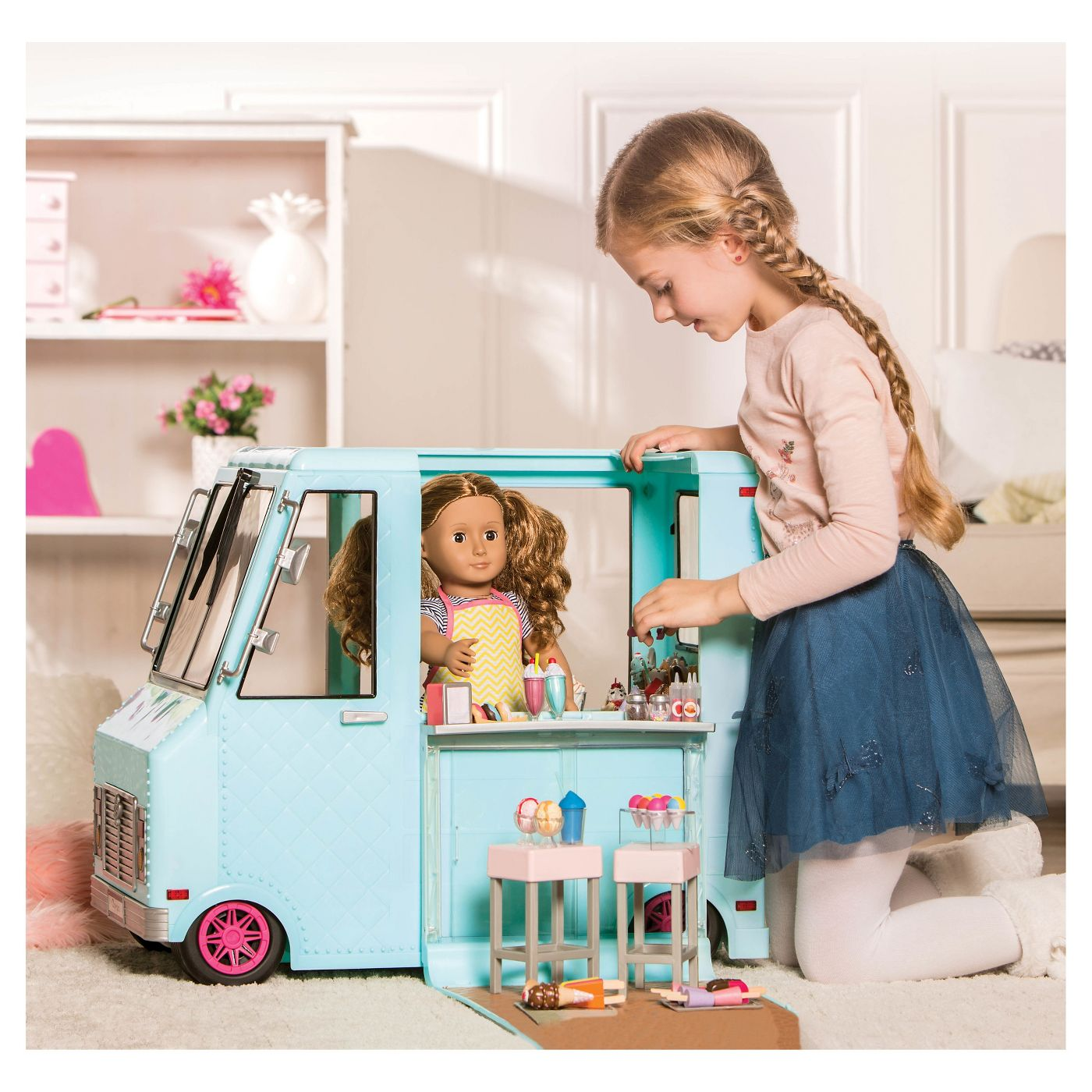 Our Generation Sweet Stop Ice Cream Truck - Light Blue - image 2 of 8