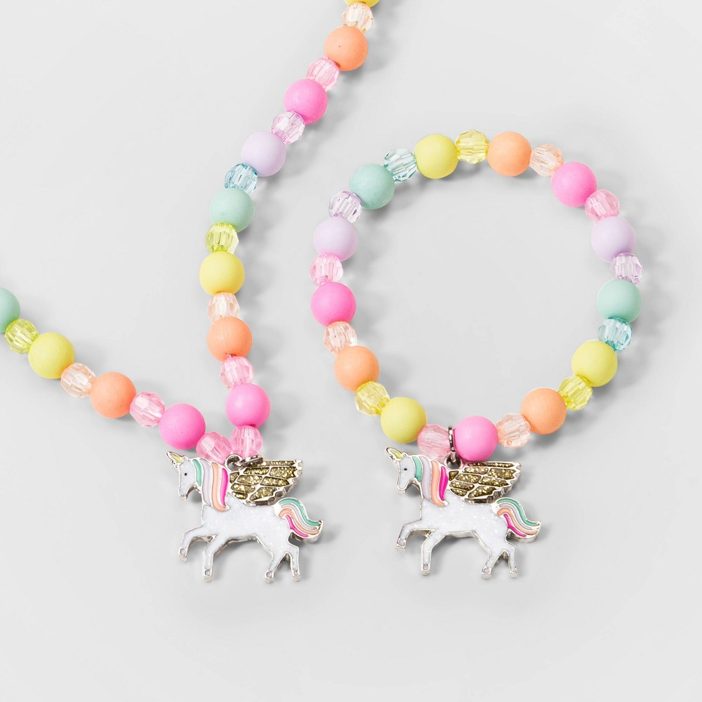 Image of Toddler Girls' Unicorn Necklace - Cat & Jack , Women's, Size: One Size, MultiColored