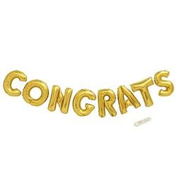 Congrats Script Foil Balloon Gold - Spritz™