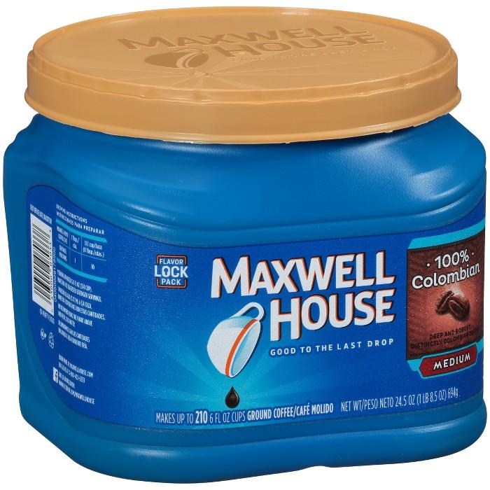 Maxwell House Colombian Medium Dark Roast Ground Coffee - 24.5oz - image 1 of 3