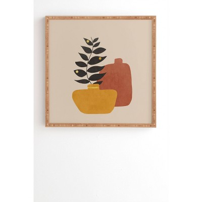 "12"" x 12"" Viviana Gonzalez Plant in a Pot Framed Wall Art - Deny Designs"