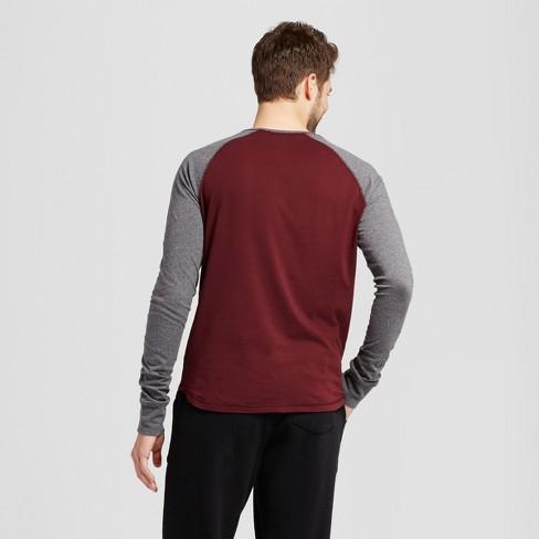 ccab63b8c Men's Standard Fit Long Sleeve Raglan Color Block Crew T-Shirt - Goodfellow  & Co™