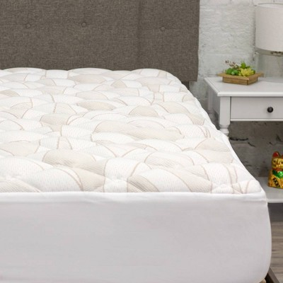 ELuxury Extra Plush Copper Infused Mattress Pad With Fitted Skirt : Target