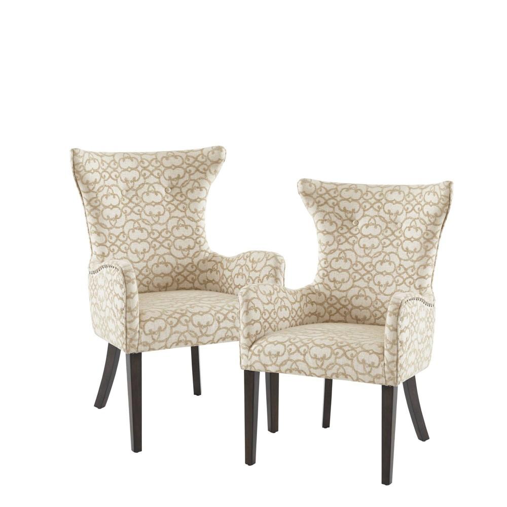 Set of 2 Shin Arm Dining Chair Tan