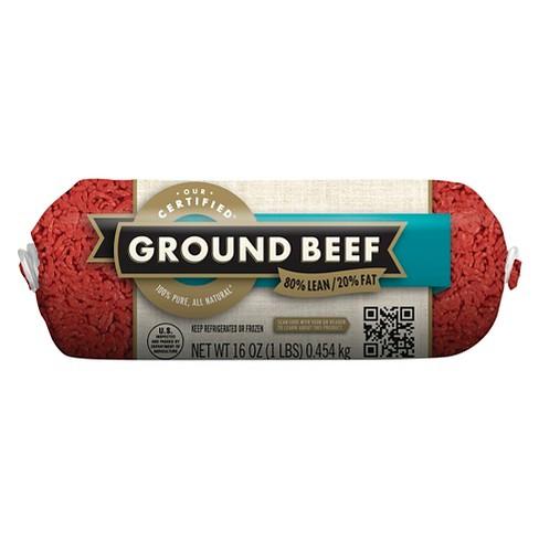80/20 Ground Chub - 1lb - Market Pantry™ - image 1 of 1
