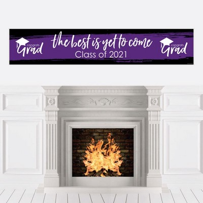 Big Dot of Happiness Purple Grad - Best is Yet to Come - Purple 2021 Graduation Party Decorations Party Banner