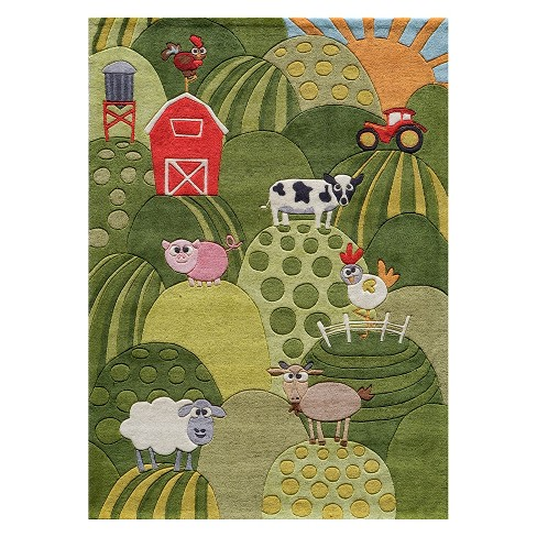 Lil Mo Whimsy Farm Tufted Accent Rug