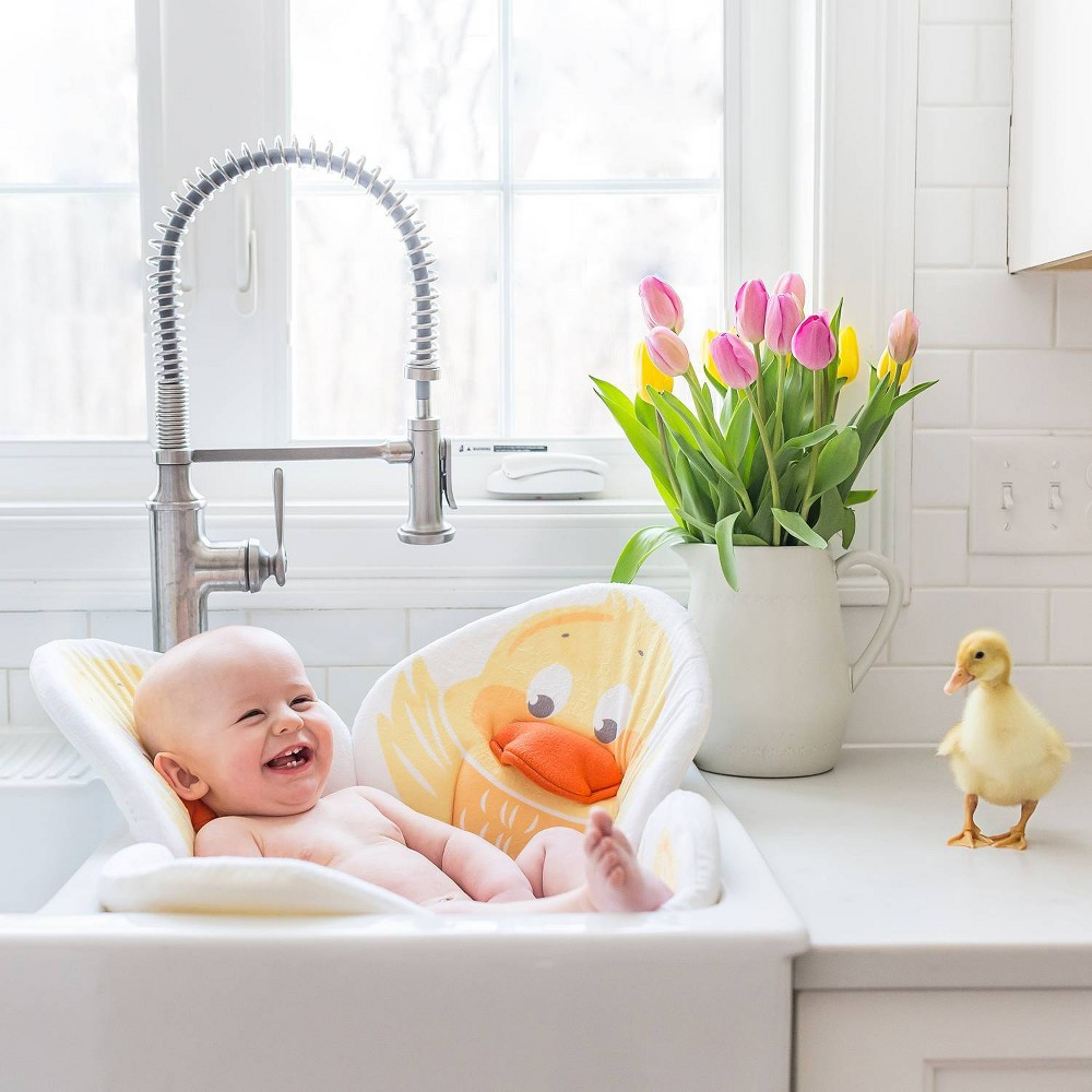 Image of Blooming Bath Pond Pals Bath Cushion - Yellow Duckling