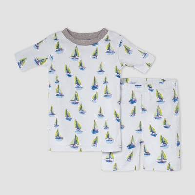 Burt's Bees Baby® Toddler Boys' Sailboats Pajama Set - Heather Gray