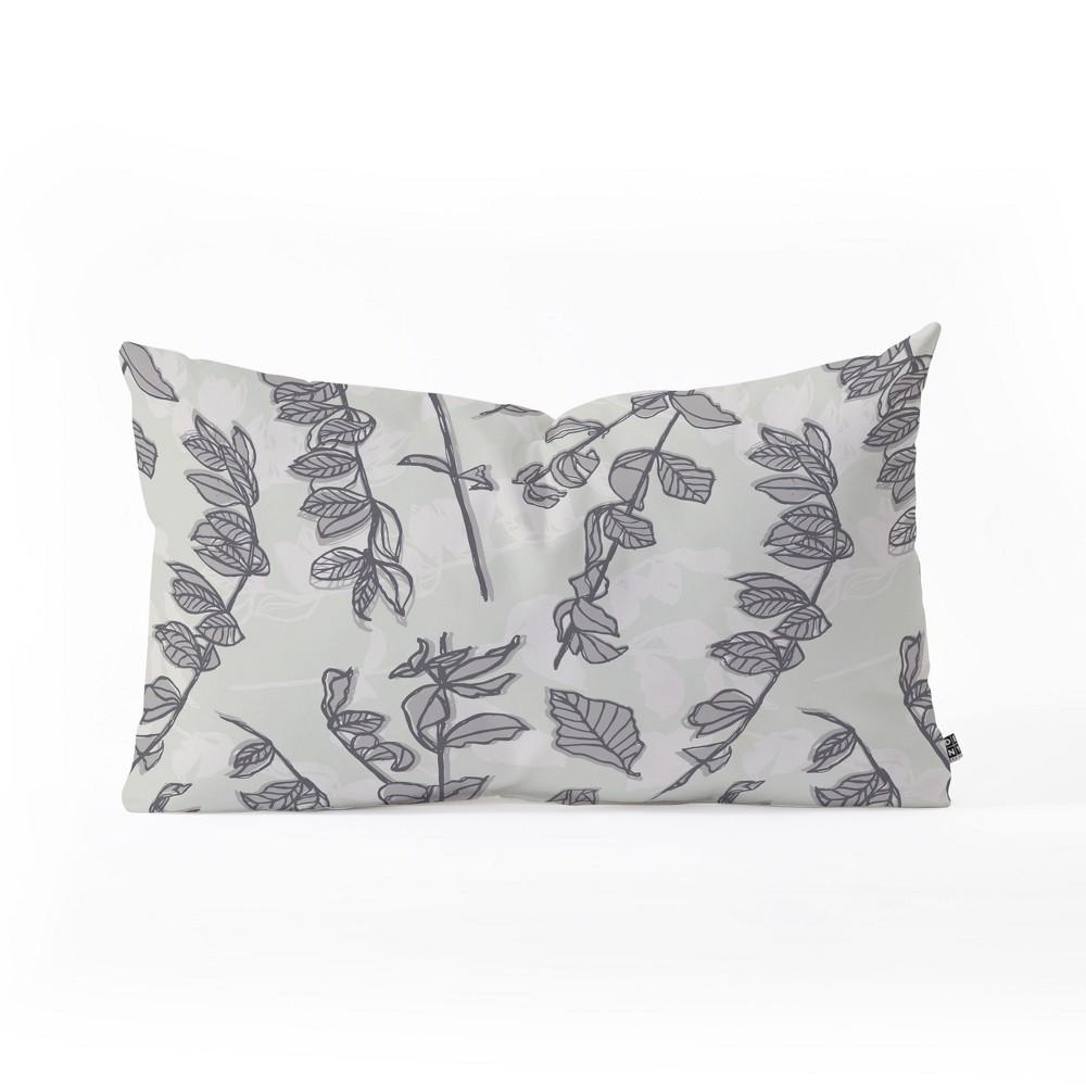 Mareike Boehmer Botanical Lumbar Throw Pillow Gray - Deny Designs