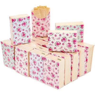 Sparkle and Bash 72-Pack Vintage Floral Design Travel Pocket Facial Tissue Packs