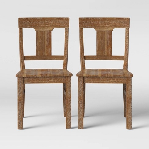 2pk Wheaton Rustic Dining Chair Brown - Threshold™ - image 1 of 6