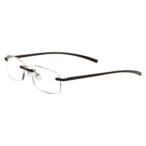 cbec21be4687 ICU Stanford Rimless Black Reading Glasses   Target