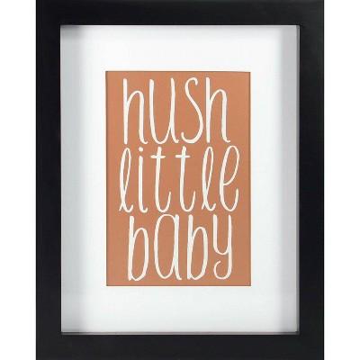 RoomMates Framed Wall Poster Prints Hush Little Baby - Rose Gold