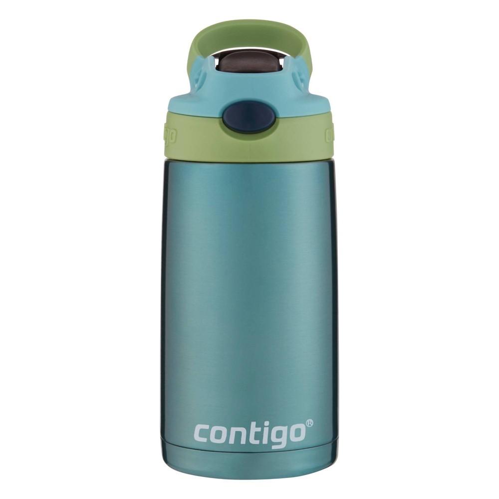 Contigo 13oz Stainless Steel Kids Autospout Water Bottle Green
