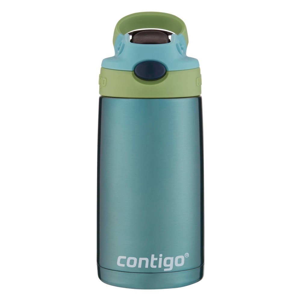 Image of Contigo 13oz Stainless Steel Kids Autospout Water Bottle Green