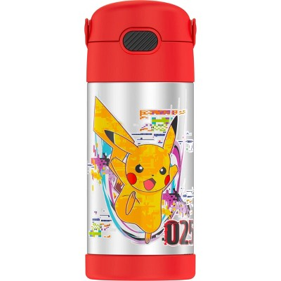Thermos Pokémon 12oz FUNtainer Water Bottle with Bail Handle - Red