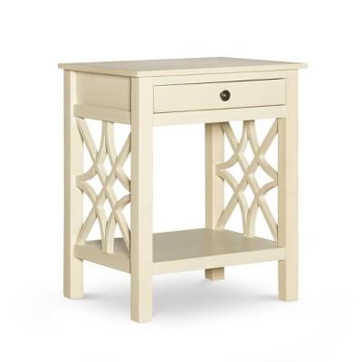 Whitley Antique End Table White - Linon