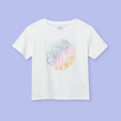 Girls' 'Here Comes The Sun' Short Sleeve Graphic T-Shirt - More Than Magic™ White