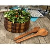 Kalmar Home Extra Large Acacia Wood Salad Bowl with 2 Serving Utensils, Brown - image 2 of 3