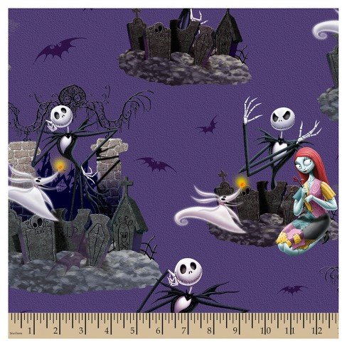 Disney Christmas Fabric By The Yard.Nightmare Before Christmas Scenic Fabric By The Yard
