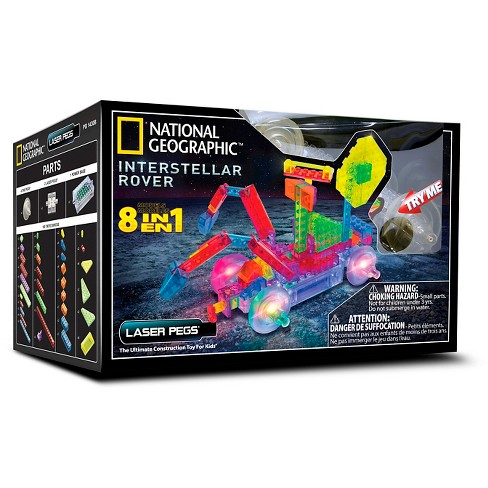 Laser Pegs 8 in 1 National Geographic Interstellar Rover Lighted Construction Toy - image 1 of 8