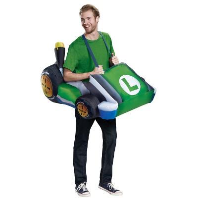 Adult Luigi Kart Inflatable Halloween Costume