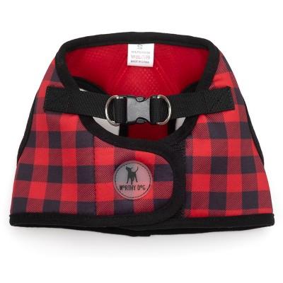 The Worthy Dog Buffalo Check Plaid Sidekick Harness Vest