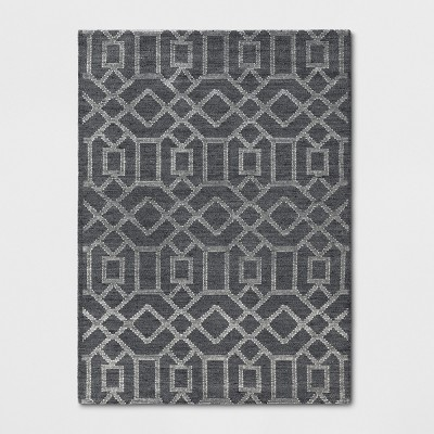 5'X7' Tapestry Tufted Geometric Area Rug Charcoal Heather - Project 62™