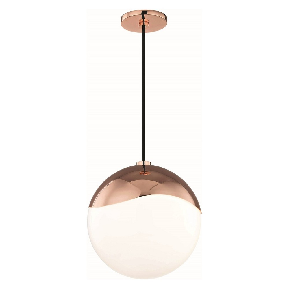 1pc Ella Large Light Pendant Copper (Brown) - Mitzi by Hudson Valley