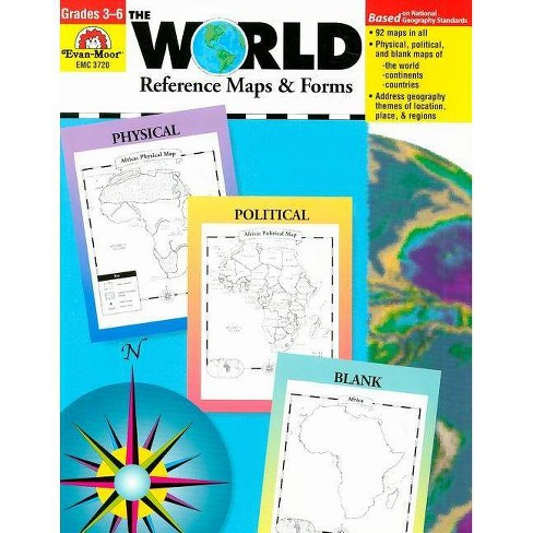 The World Reference & Map Forms - (World & Us Maps) (Paperback)