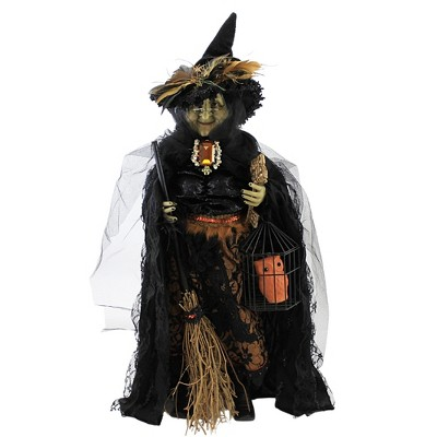 "Halloween 24.0"" Hilda ""Witch"" Broom Owl Key  -  Decorative Figurines"