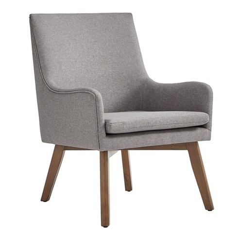 Set Of 2 Living Room Accent Chairs.Inspire Q Set Of 2 Loka Mid Century Wood Base Accent Chairs Linen Smoke Gray