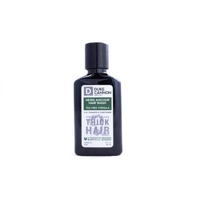 Duke Cannon News Anchor 2-in-1 Tea Tree Hair Wash Travel Size - 3oz