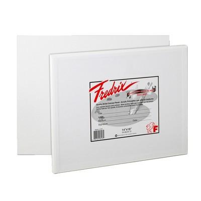 Fredrix Warp Resistant Canvas Panels, 14 x 18 Inches, pk of 3