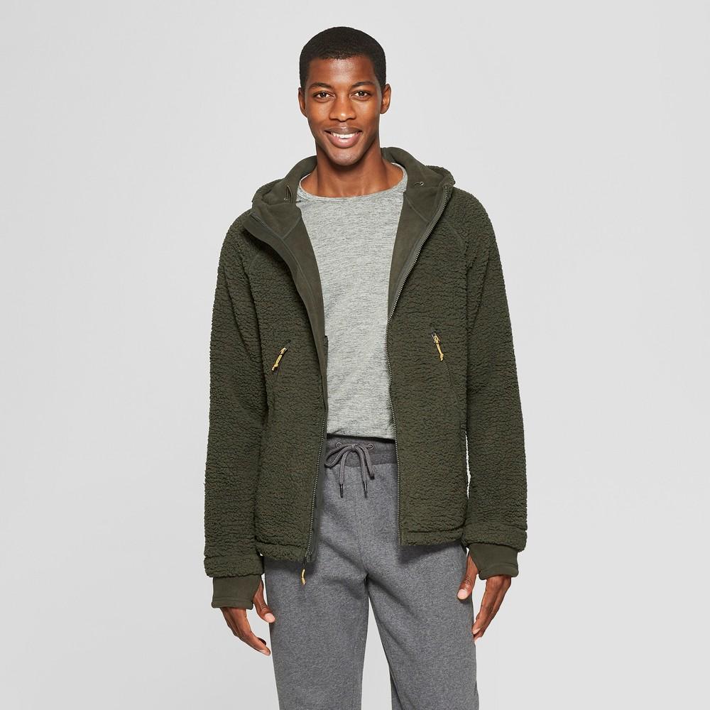 Men's Sherpa Lined Fleece Jacket - C9 Champion Bottle Green L