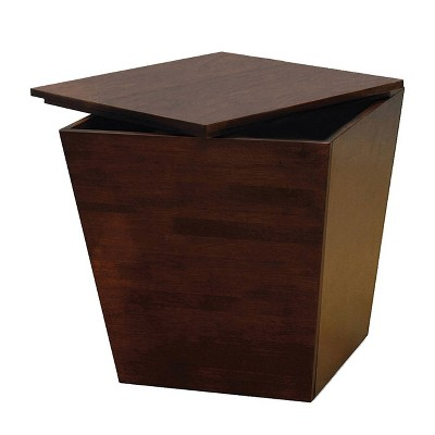 Mesa Storage Cube, End Table - Antique Walnut - Winsome