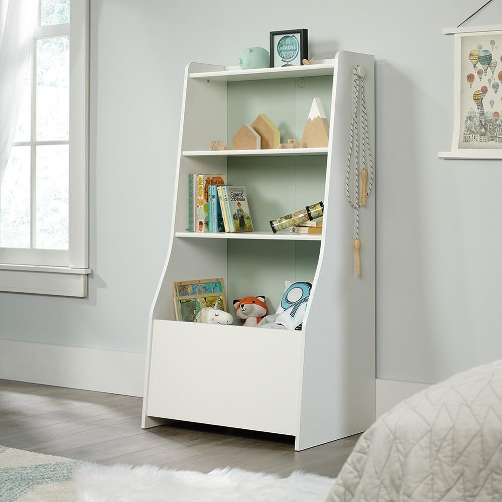 Pinwheel Bin Bookcase Soft White - Sauder