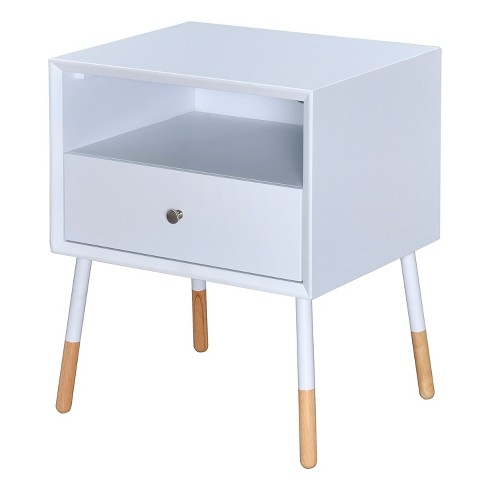 End Table White Natural - Acme Furniture - image 1 of 4
