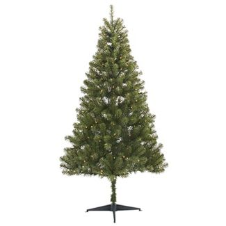 6ft Pre-lit Artificial Christmas Tree Alberta Spruce Clear Lights - Wondershop™