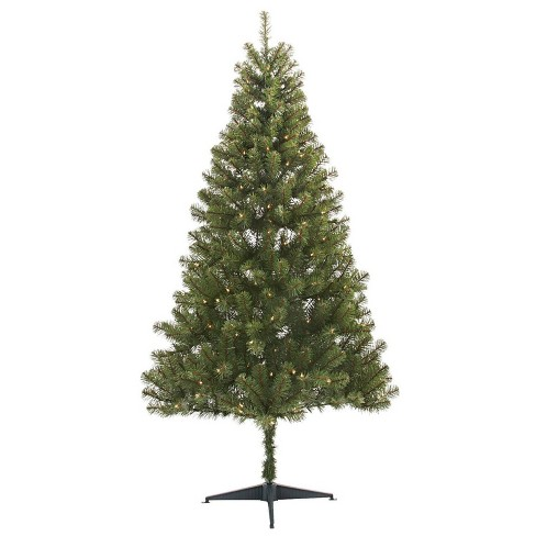 4 Foot Christmas Tree.6ft Pre Lit Artificial Christmas Tree Alberta Spruce Clear Lights Wondershop